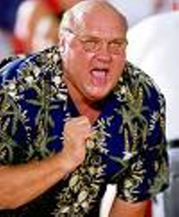 "SLU coach Rick Majerus prefers Hawaiian shirts to ""magic underwear."""