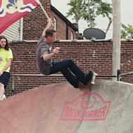 Here's Tony Hawk Skating a St. Louis Park While Holding a St. Louis Flag