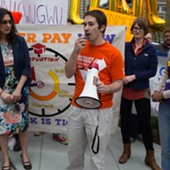 Wash U Grad Students Take to the Streets of Clayton to Protest Summer Wages