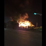 Video Shows Fire Obliterating Liberty Bell Oil Co. Building in Botanical Heights