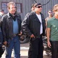 Like pigs to slaughter: Old men in leather pants, going nowhere fast.