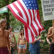 Whadda Bust! Columbia Topless Rally Draws More Men Than Women [PHOTOS]