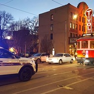 In a Strange Twist of Events, Car Hits the Loop Trolley