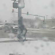 St. Louis Hero Unicycles Through Blizzard