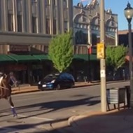 Cowboy and His Horse Prove That Cherokee Street Is Still Wild