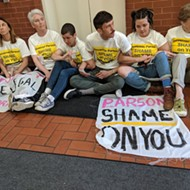 Abortion Activists Sit-In at Wainwright Building, Demanding Planned Parenthood License Be Renewed