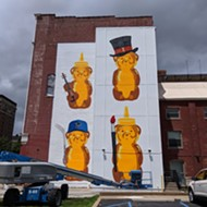 Honey Bears by Artist fnnch Rise on Huge New Mural in Grand Center