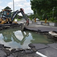 Massive Water Main Break Destroys Lindell at Union, Road Closed Indefinitely