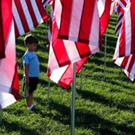 PHOTOS: In Forest Park, a Forest of Flags and Memories of War