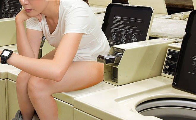Artist rendering of the Washing Machine Pooper in action. - PHOTO ILLUSTRATION BY KELLY GLUECK