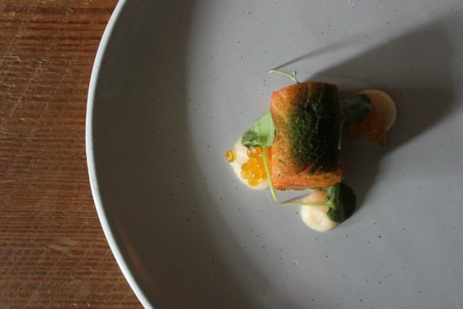 Privado, Mike Randolph's exploratory tasting menu restaurant, is now open on Fridays and Saturdays. - CHERYL BAEHR