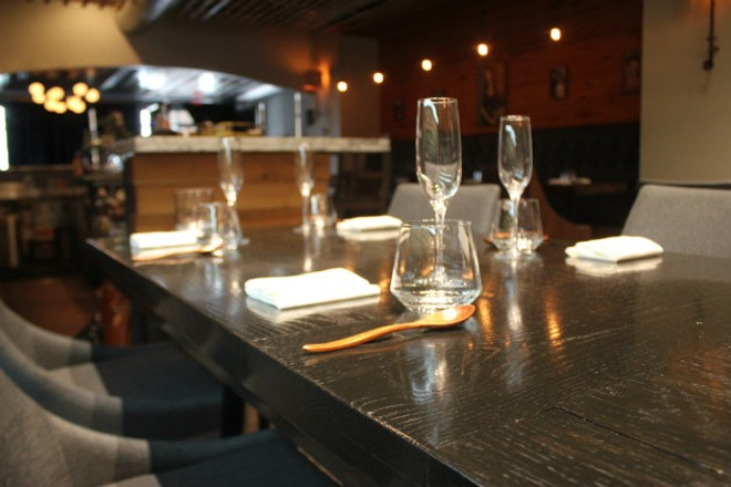 Privado's table setting is minimalist. - CHERYL BAEHR