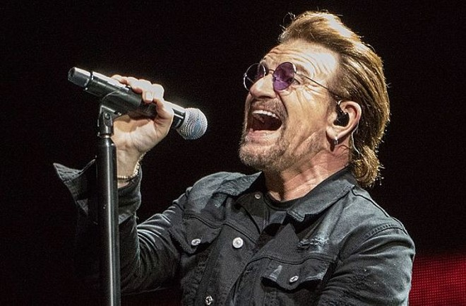 Bono opening his big fat mouth, as is his way. - PHOTO BY DANIEL HAZARD / CREATIVE COMMONS