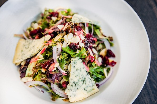 """The """"Louisiana sunburst salad"""" at 1764 Public House — a new hotspot in the Central West End. - COURTESY OF 1764 PUBLIC HOUSE"""