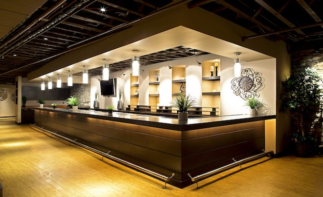 The bar at Arc, the lower-level event space planned for Munsok So's building in Laclede's Landing. - COURTESY OF KOR