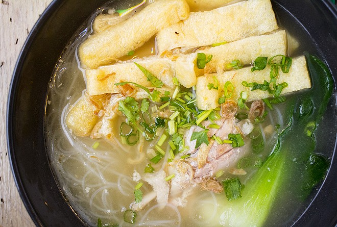 The duck soup can stand toe to toe with the best dishes at the town's numerous noodle spots. - MABEL SUEN