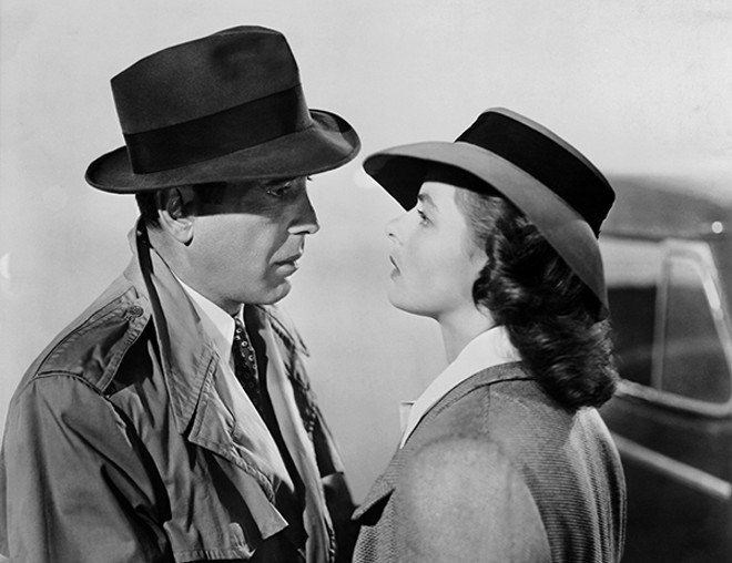 "The problems of these two ""little people don't amount to a hill of beans in this crazy world."" We still can't stop watching. Catch Casablanca on the big screen Sunday and Wednesday. - WARNER HOME ENTERTAINMENT"