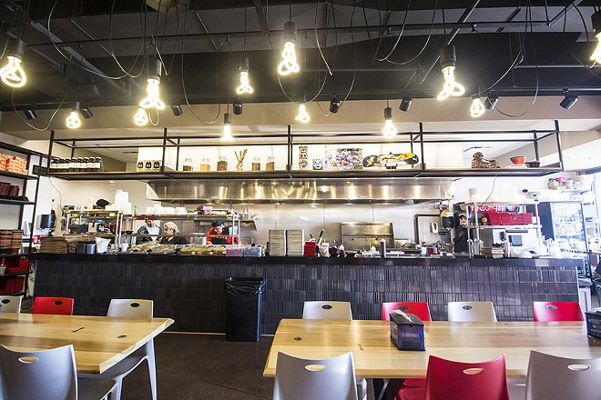 The Creve Coeur storefront has a stylish look and plenty of seating. - MABEL SUEN