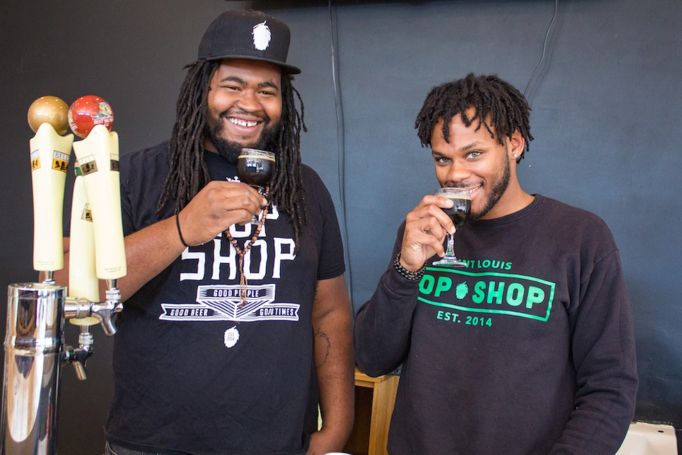 St. Louis Hop Shop: brothers Justin Harris and Ryan Griffin want to keep you in beer. - SARA BANNOURA