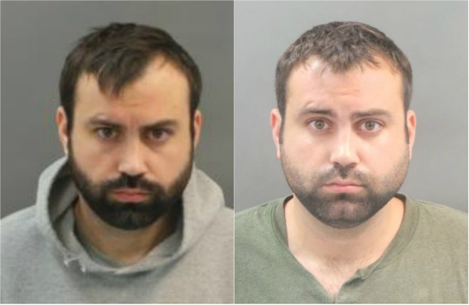 John Wells in booking photos from November (left) and June. - IMAGES VIA ST. LOUIS METROPOLITAN POLICE