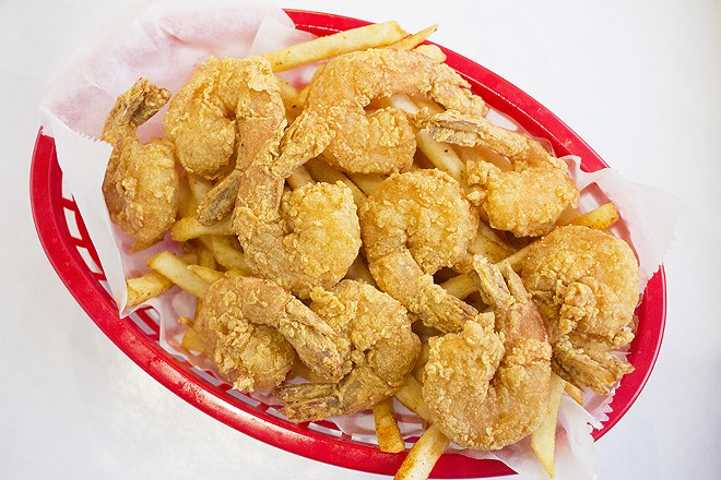 A fried shrimp basket can be ordered with Cajun fries. - MABEL SUEN