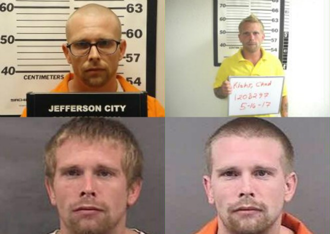Chad Klahs in prison mug shots over the years. - IMAGES VIA MISSOURI DEPARTMENT OF CORRECTIONS