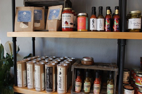 Nearly everything stocked in the market is locally made. - PHOTO BY LAUREN MILFORD