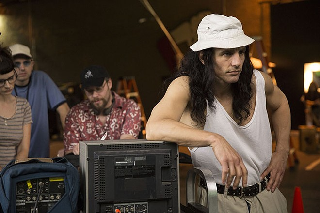 Much of the film's humor comes from simply recreating the scenes of The Room. - JUSTINA MINTZ, COURTESY OF A24