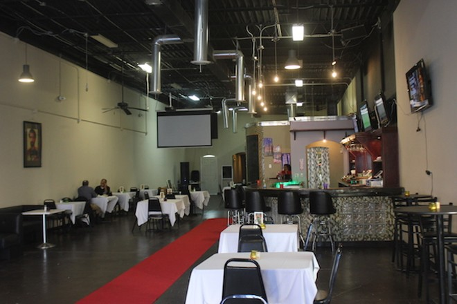 The room is big, with a few booths and banquettes near the entrance followed by two and four-top tables. - SARAH FENSKE