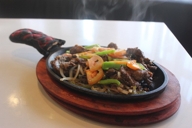 """Zil zil tibs — better known as """"Teddy's Special"""" — can also be scooped up with injera. - SARAH FENSKE"""