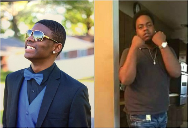 Deandre Kelley, left, was visiting friend Joseph Corley, right, when they were killed. - IMAGE VIA ST. LOUIS COUNTY POLICE