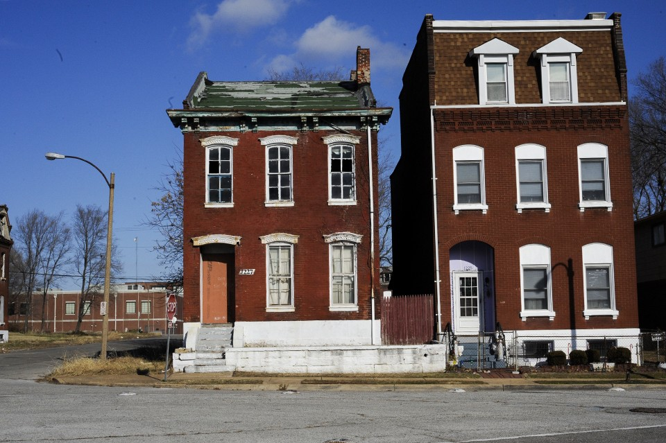 The city of St. Louis has more than 25,000 vacant or abandoned lots.