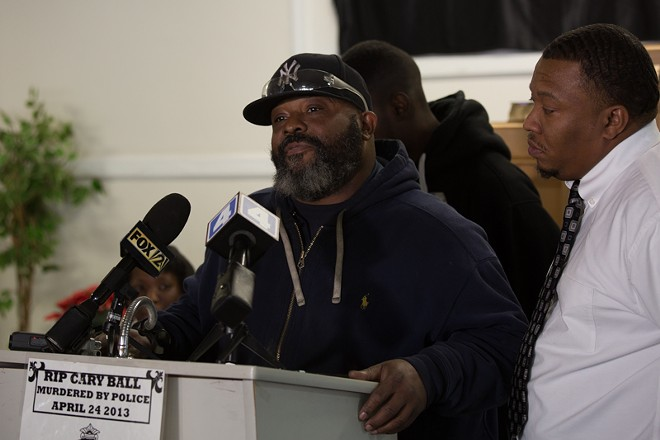 Carlos Ball, the father of a slain suspect, pleads for new attention to the case. - DANIEL SHULAR