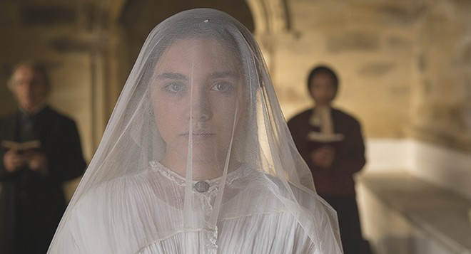 Florence Pugh is a decidedly ruthless Lady Macbeth. - LAURIE SPARHAM, COURTESY ROADSIDE ATTRACTIONS