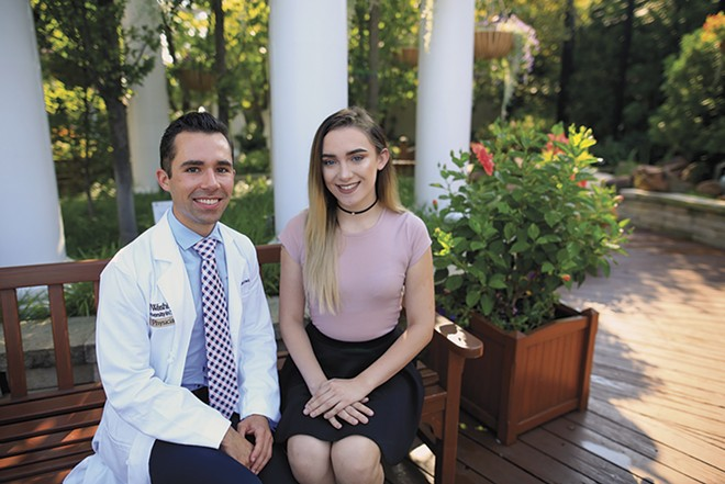 Washington University pediatric endocrinologist Christopher Lewis, MD, with patient Jessica, is changing how transgender youth are treated. - COURTESY ST. LOUIS CHILDREN'S HOSPITAL