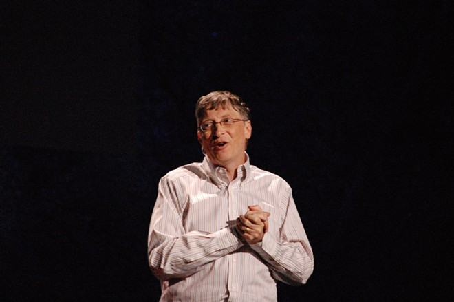 Bill Gates gives a TED talk in 2009. - FLICKR/RED MAXWELL