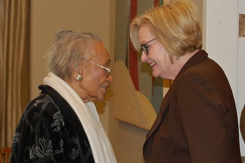Frankie Muse Freeman, left, passed away Friday after a century of impact. - COURTESY OF CLAIRE MCCASKILL