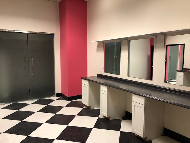 Dressing rooms are ready for the performers. - DAVID PARDUE