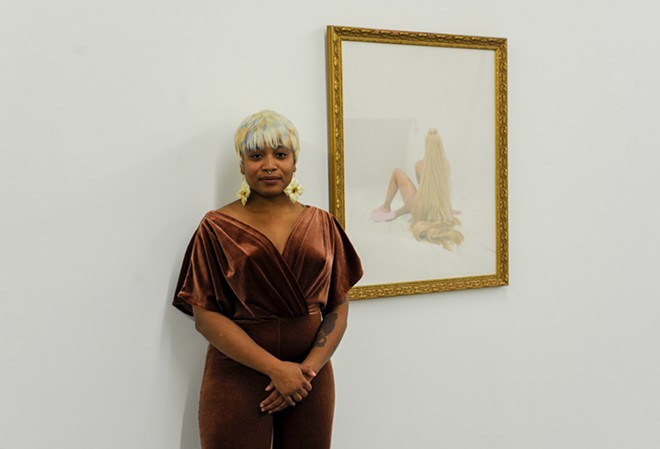Kat Simone curated Mane 'N Tail, which opened at the Luminary last weekend. - KELLY GLUECK