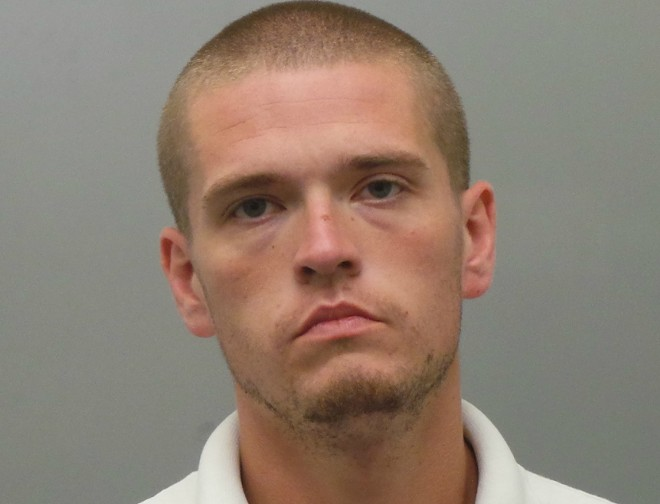 Nicholas Settles hit a police car head-on twice on Wednesday, St. Louis cops say. - COURTESY OF ST. LOUIS COUNTY POLICE