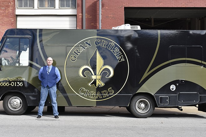 Tommy Clyne has put the cigar lounge experience on wheels. - MEGAN ANTHONY