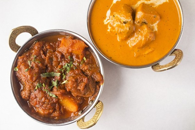 Lamb vindaloo and chicken tikka masala show the kitchen's expertise with Indian classics. - MABEL SUEN