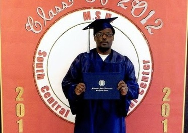 Bobby Bostic poses with a certificate from Missouri State University. - PHOTO VIA FREEBOBBYBOSTIC.COM