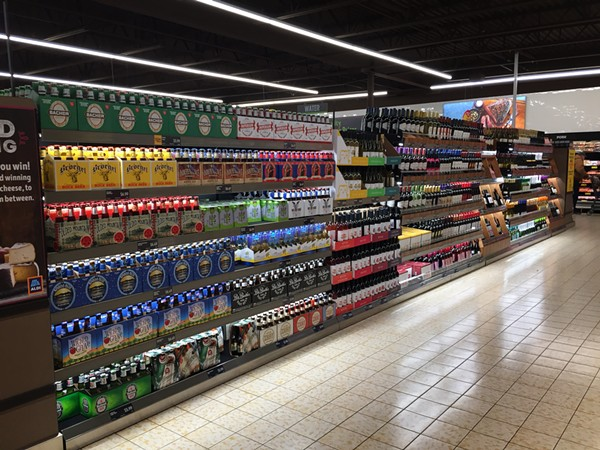 And this beautiful booze aisle - PHOTO BY JAIME LEES