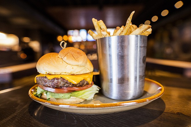 The house burger features a blend of sirloin, brisket and short rib. - MABEL SUEN