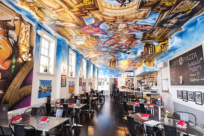 Paco Rosic's street-art-inspired mural helped change the restaurant's concept. - MABEL SUEN