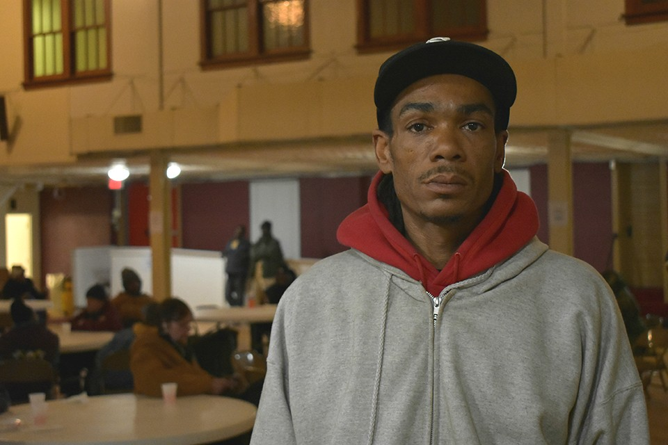 Joel Mixon moved his family into a 'pop up' shelter this winter at St. Peter AME Church in north St. Louis. - DOYLE MURPHY