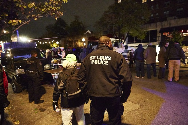 Police on patrol in St. Louis. - THEO WELLING