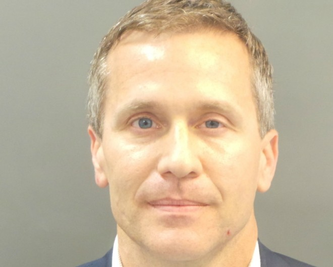 Gov. Eric Greiten, shown in a booking photo, was charged with invasion of privacy. - COURTESY OF SLMPD