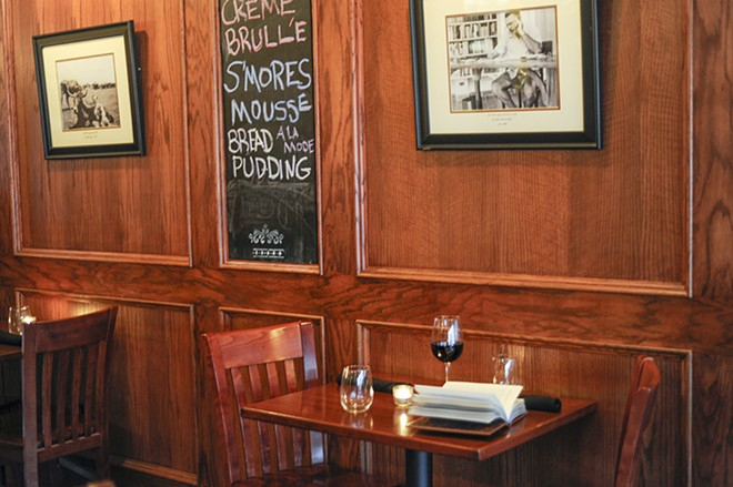 Enjoy a not-too-short, happy life in the quiet confines of Ernesto's Wine Bar. - KELLY GLUECK